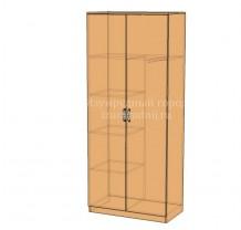 Шкаф широкий с доп. полками и выдвижной штангой